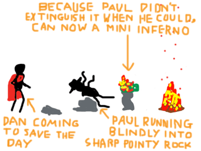 Paul vs. Fire - Frame 4