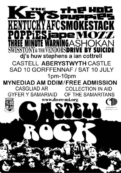 Castell Rock gig poster