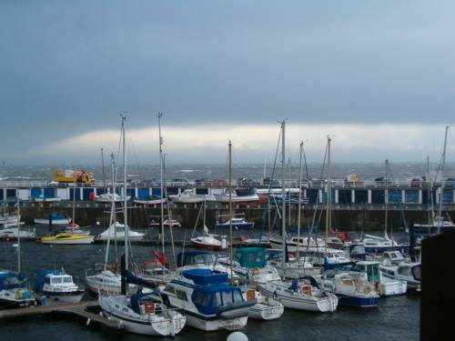 Storm brewing over Aberystwyth harbour