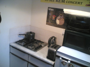 Tidy kitchenette surfaces at The Flat