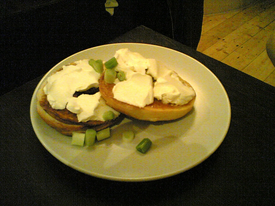 Claire's cream cheese bagel
