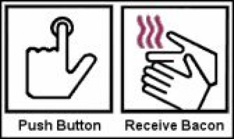 Push button, reveive bacon.