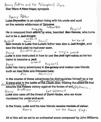 Harry Potter script