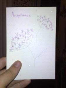 'Acceptance' Card