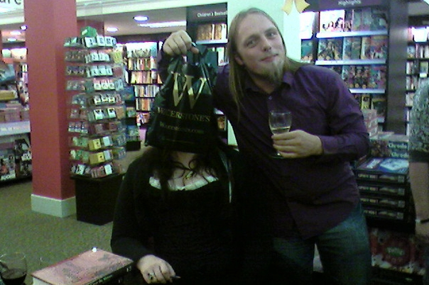 Dan with author Faye at the book launch