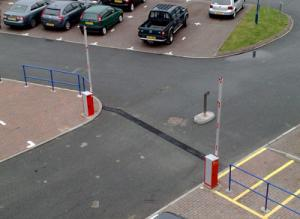 Car Parking Gates at the Aberystwyth Technium