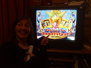 My mum is the superstar at Mario Party