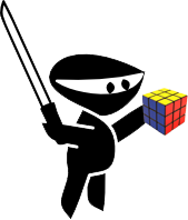 Ninja with a Rubix Cube