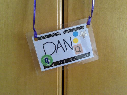 My BiCon 2009 badge