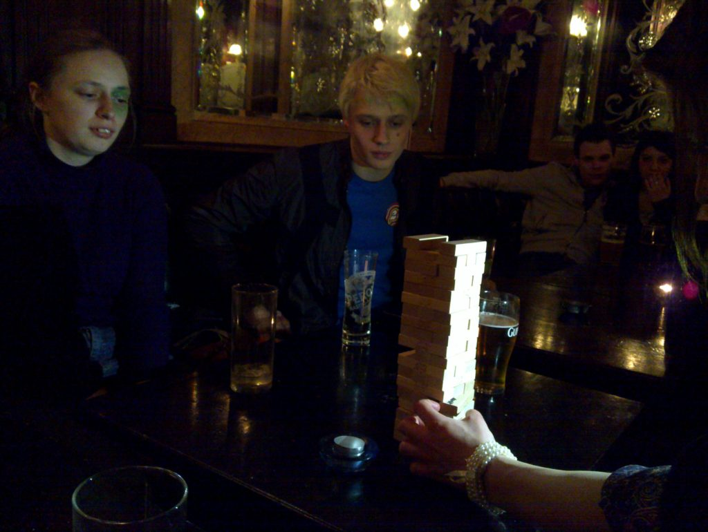 Another gripping turn of Pub Jenga