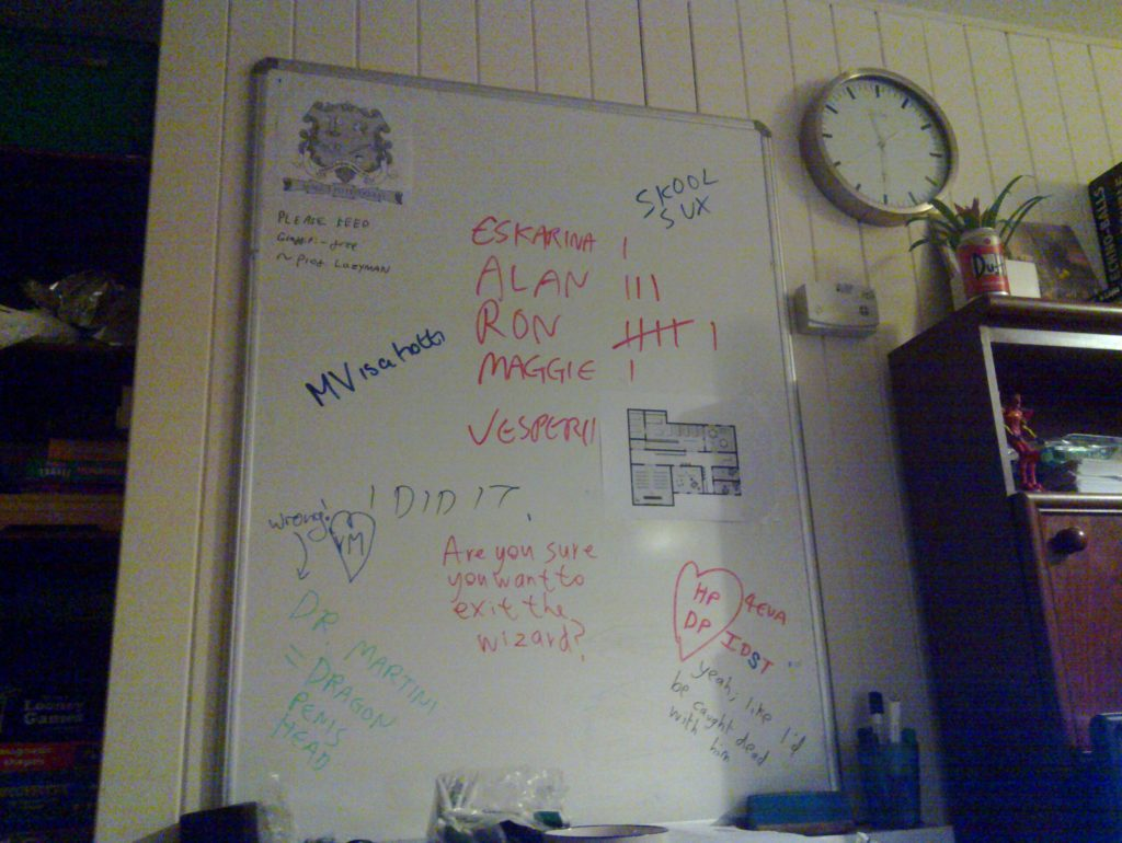 The Whiteboard of Secrets and Lies