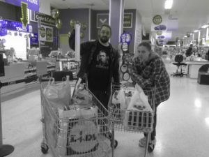 Ruth and JTA shopping in advance of Murder At The Magic College.