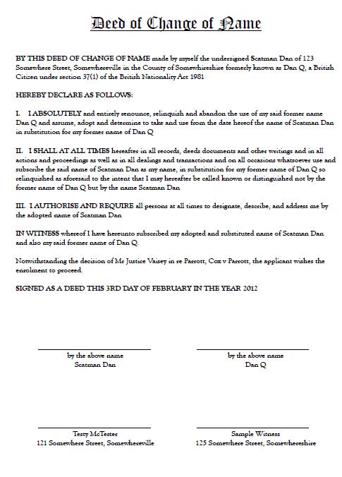 Deed poll dan q a sample deed poll document generated by freedeedpoll maxwellsz