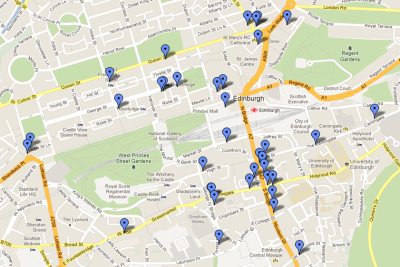 Map of the 2012 Free Fringe.