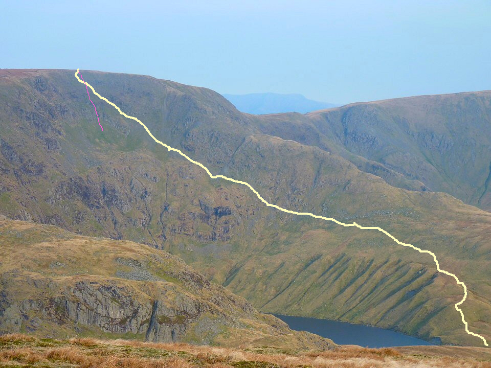 The route up Blea Water.