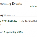 Lucy 173's birthday is in 13/1 days.