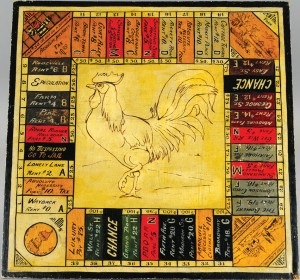 "A home-made 1920s ""Landlord's Game"" board."