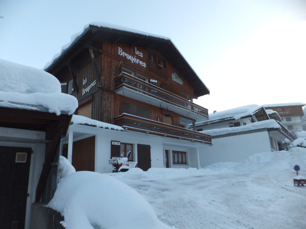 Les Bruyères; our chalet in the Alpine town of Les Gets.