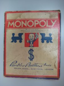 An early boxed copy of Monopoly.