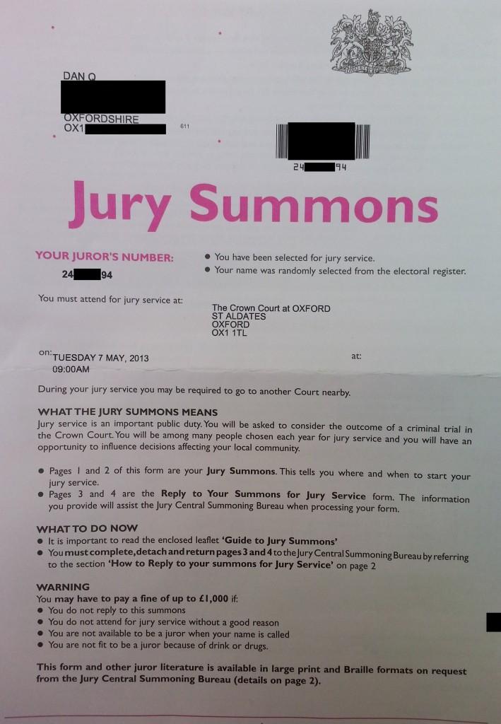 jury duty  part 1  u2013 dan q