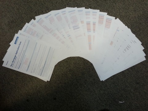 A 22-page form; each page is double-sided for added insanity.