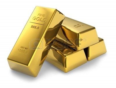Gold bars on gold bars