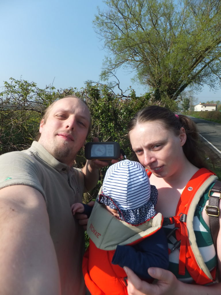 Dan, Ruth, and baby Annabel at geohashpoint 2014-04-21 51 -1