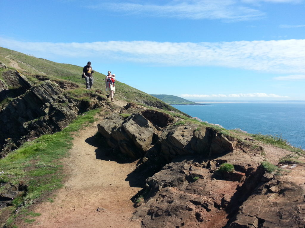 Ruth, JTA and Annabel on Baggy Point
