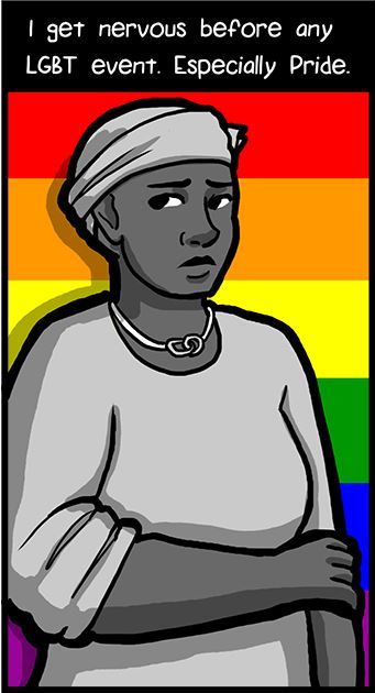 "First frame of comic ""Prejudice Pride"""