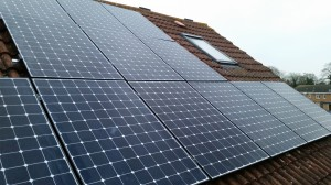Solar panels on our roof.