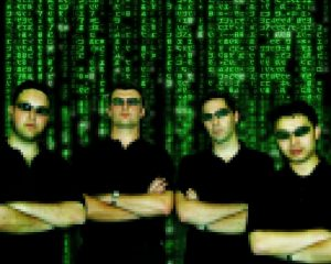Greg, Marc, Blair and Dom, as depicted in Greg's 2007 blog post.