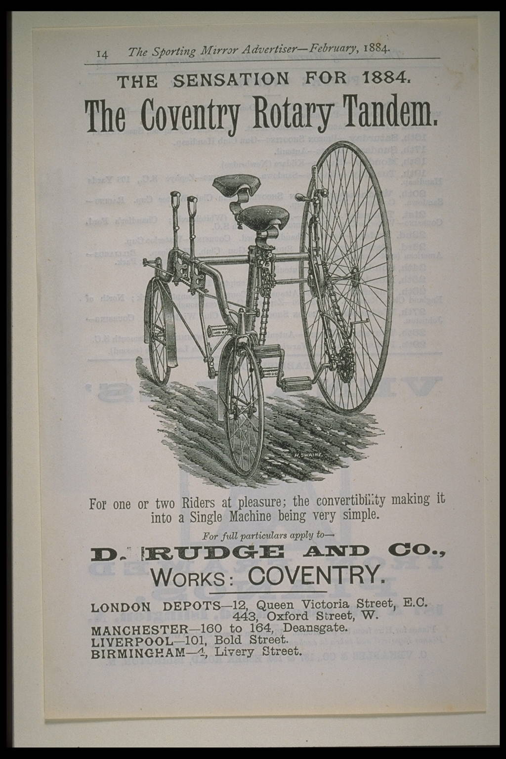 The Coventry Rotary Tandem bicycle