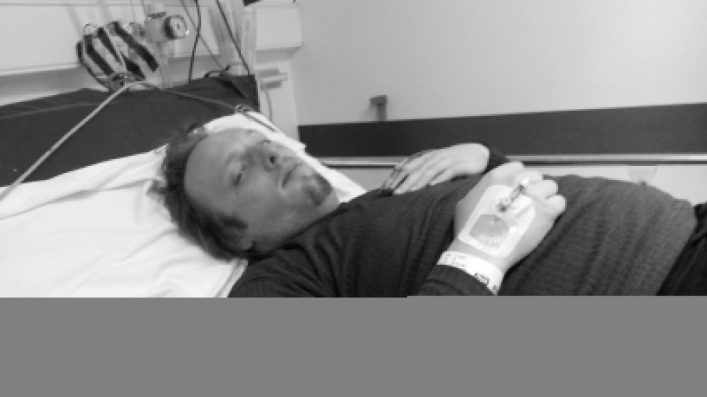 Dan, shortly before inpatient admission but already recovering from the worst parts of his hospital visit, last week.
