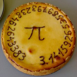 "A ""pi pie"", from a Pi Day celebration."