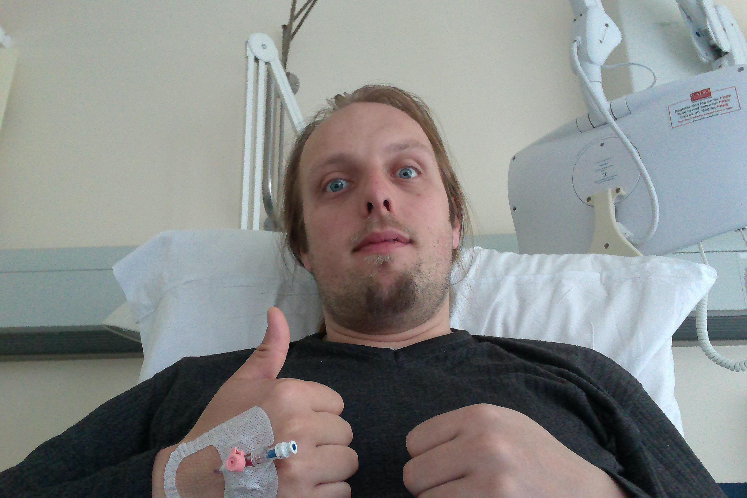 Dan in hospital