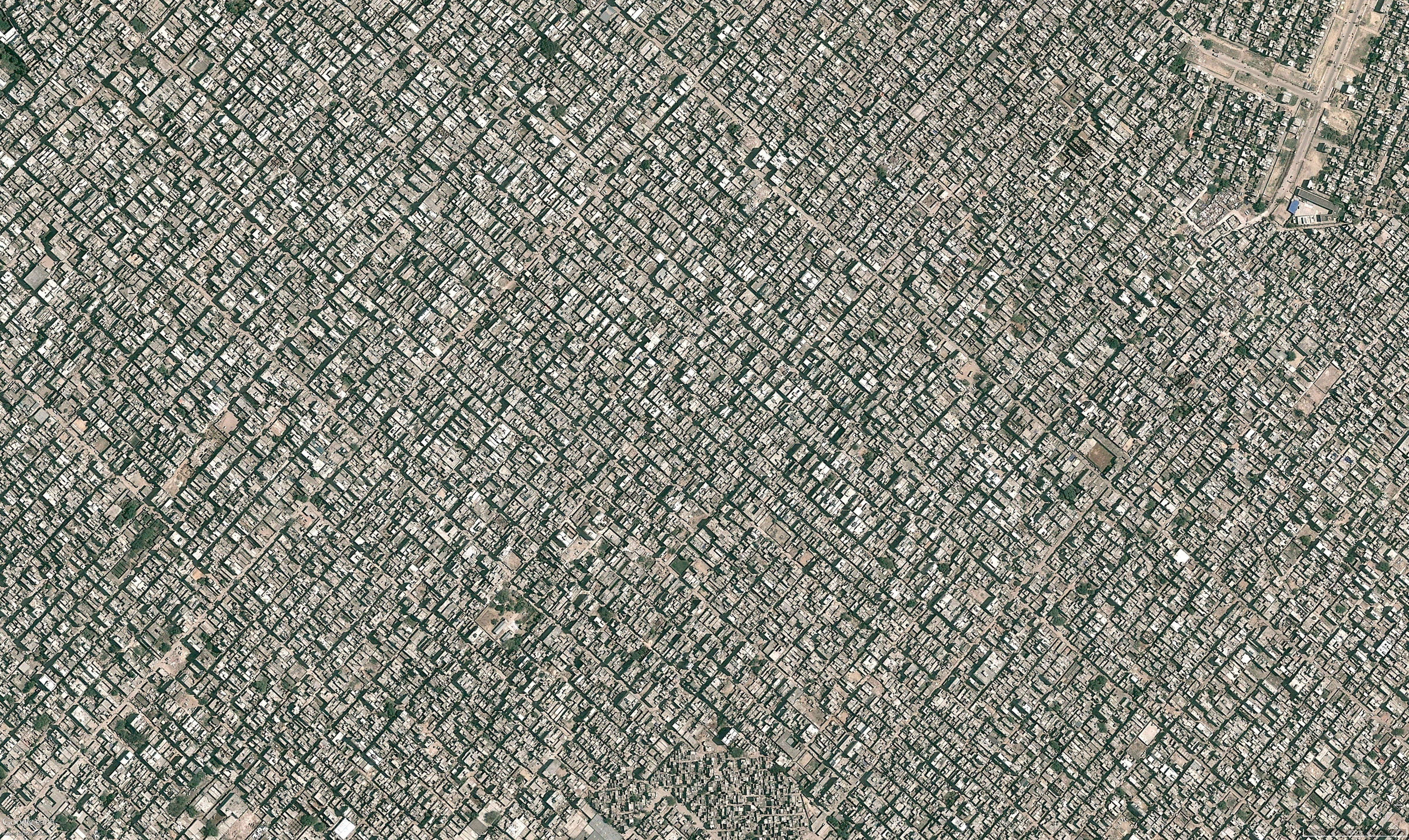 Aerial photography of New Delhi