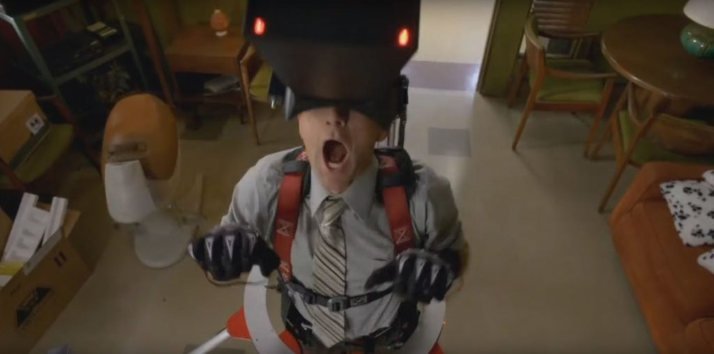The Dean's VR machine, in Season 6 of Community, was clearly inspired by Virtuality.