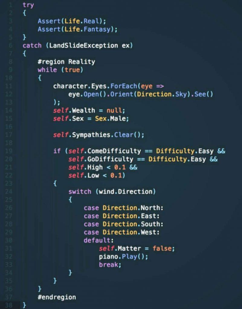 Bohemian Rhapsody in code