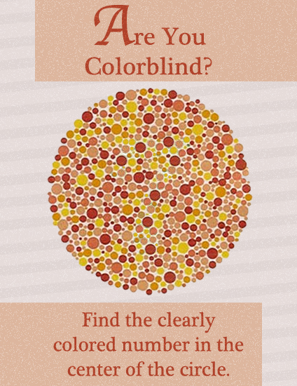 Face Science: Colourblindness test