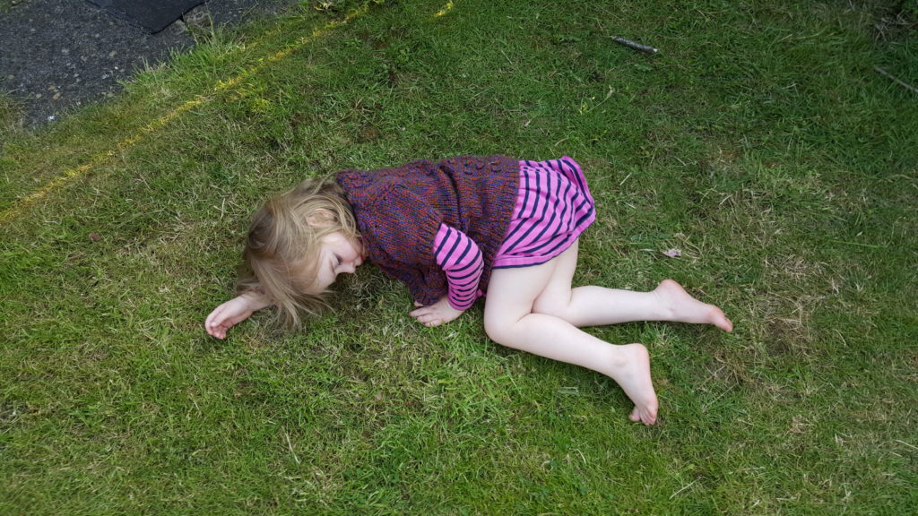 "Annabel plays-dead after ""falling off a mountain""."