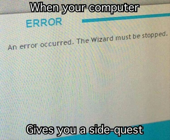 An error occured. The Wizard must be stopped.
