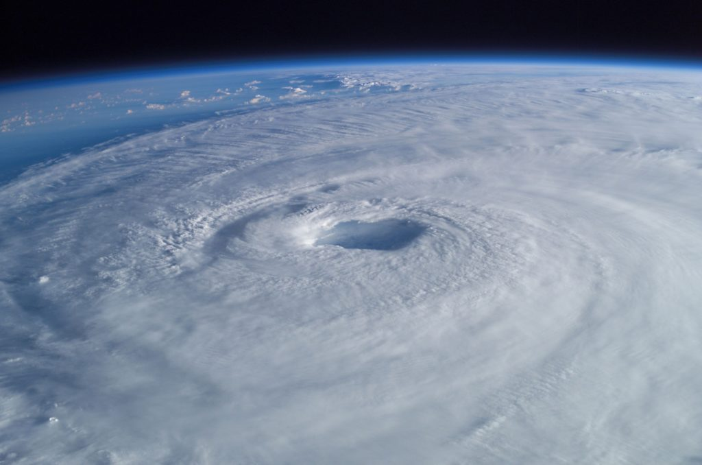 Eye of a storm as seen from the ISS.