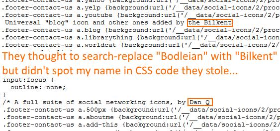 CSS code from Bilkent University.