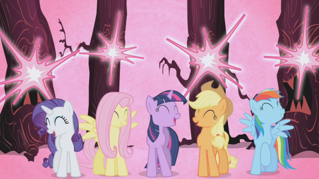 Pinkie Pie's friends learn about the Element of Laughter.