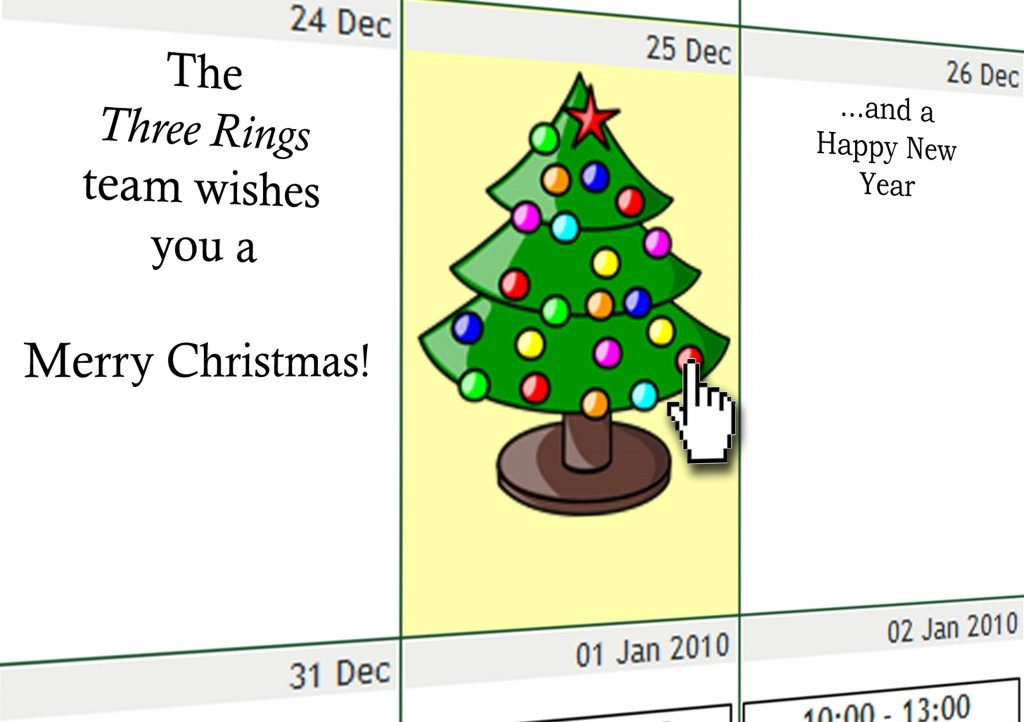 Three Rings' 2009 Christmas card