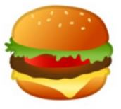 Until recently, Google's depiction of a burger in their emoji for that purpose.