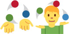 "Twitter's ""juggler"" emoji, before and after September 2016"