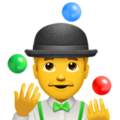 "Apple's ""juggling"" emoji."