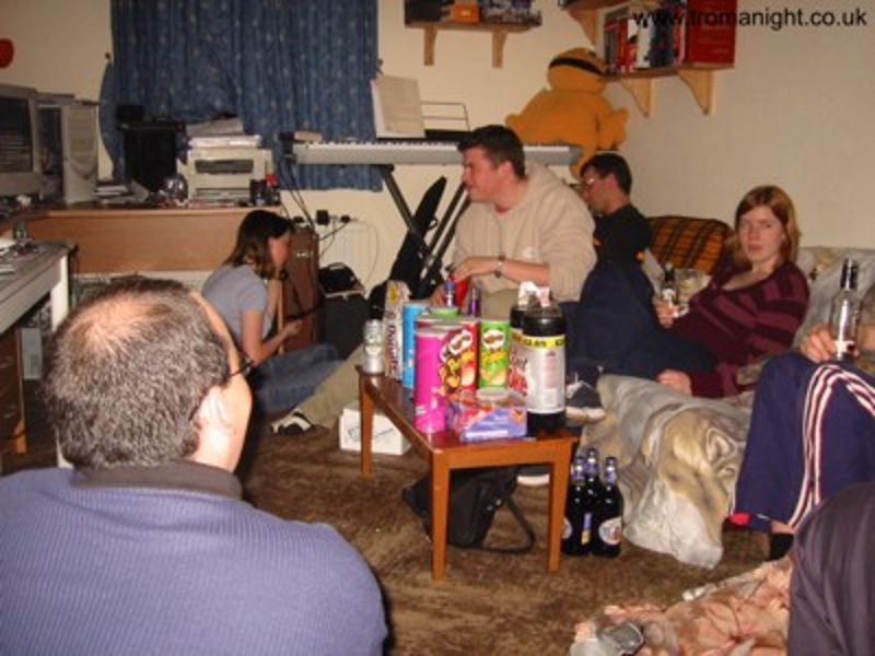 Troma Night 4, back when The Flat was in its original furniture configuration.