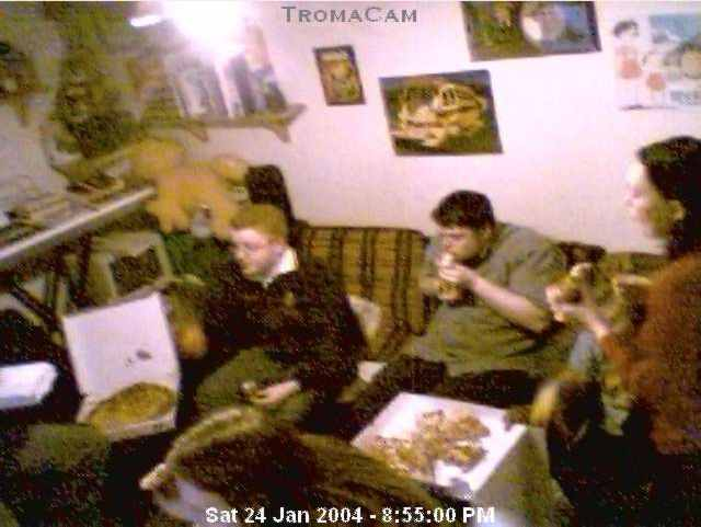 Troma Night XXI, captured on the Troma Night Webcam